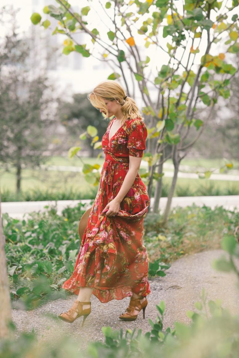 Carolina Benoit Ralph Lauren Dress Floral